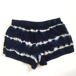 Forever 21 Blue & White Tie Dye Flowy Shorts XS